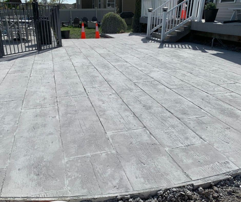 New Concrete Patio to the Pool
